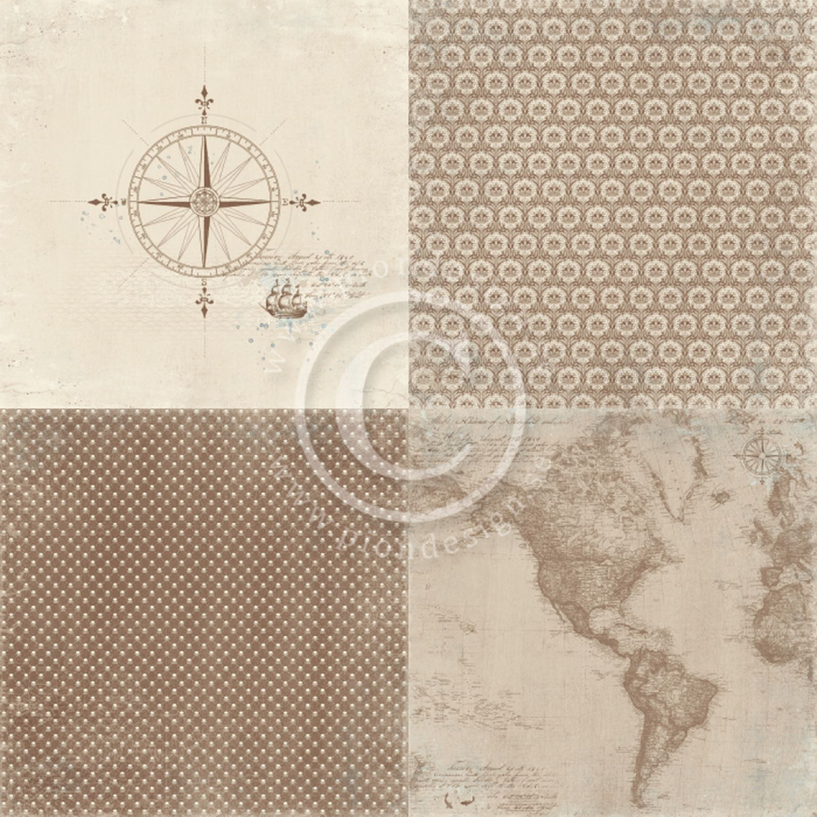 Pion design , PD9103, legends of the SEA ,- go east. 6x6