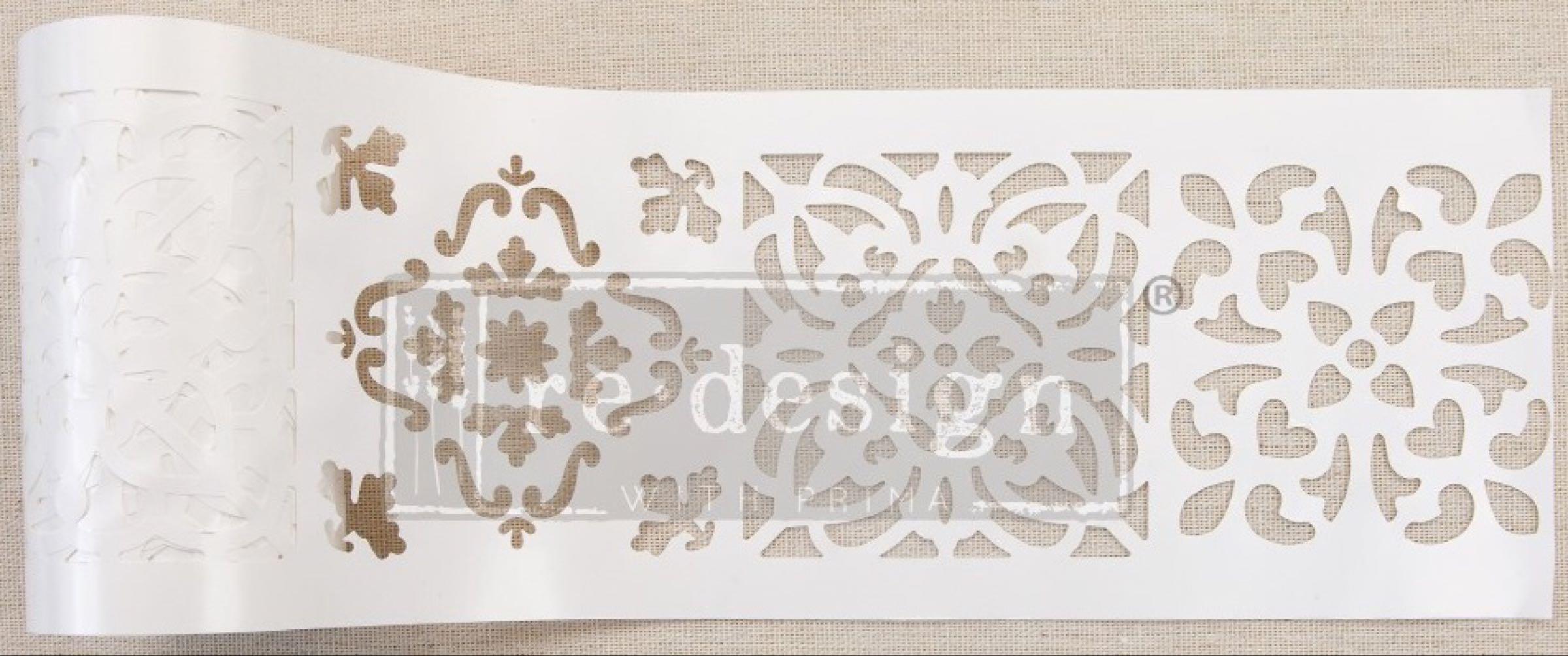 Re-design with Prima Stencil Roll - Casa Blanca Tile