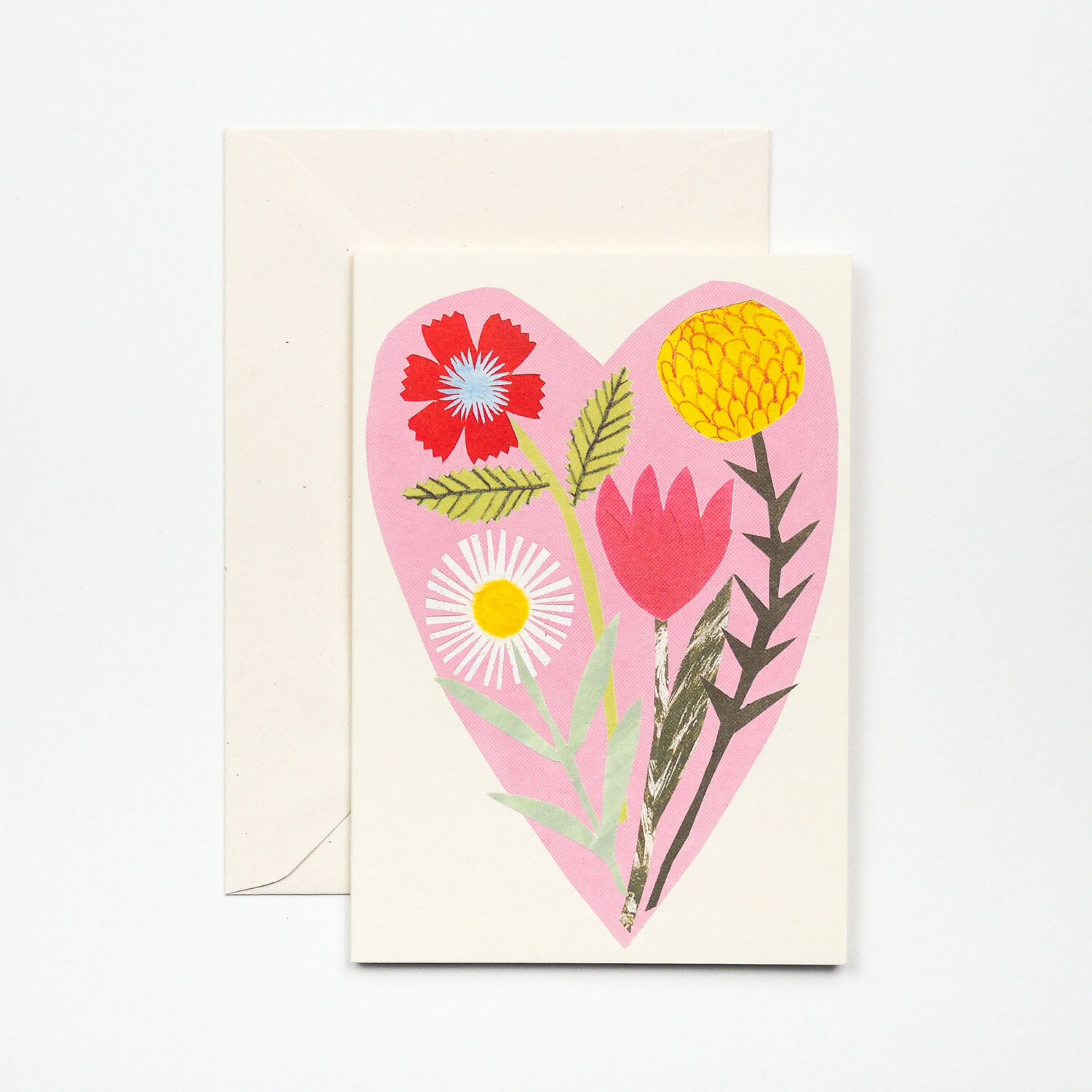 Floral Heart Card by Hadley Paper Goods