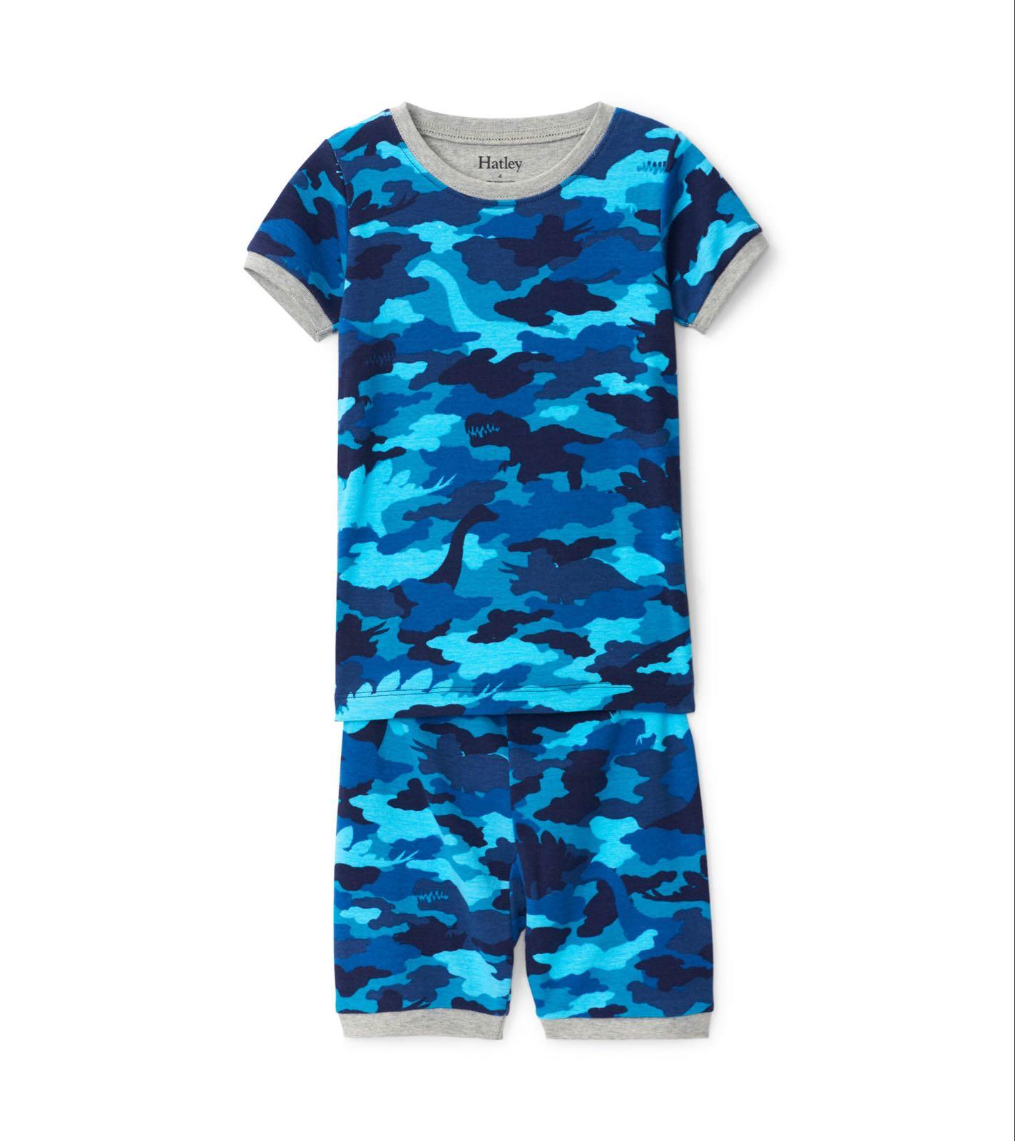 Hatley Dino Camo Organic Cotton Short Pyjama Set