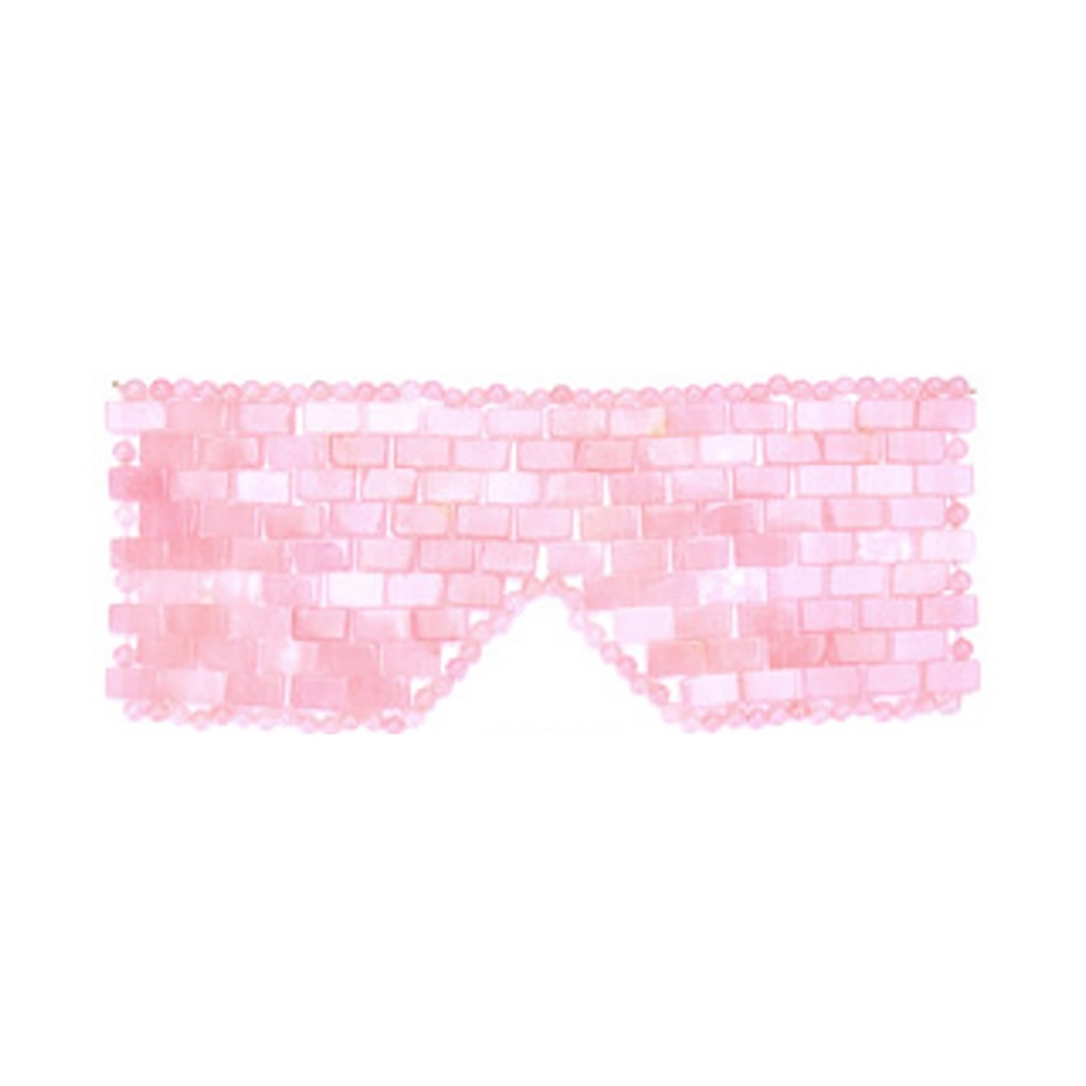 BEAUMONDE ROSE QUARTZ EYE MASK