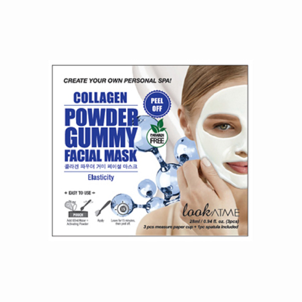LOOK AT ME POWDER GUMMY FACIAL MASK COLLAGEN 3 STK