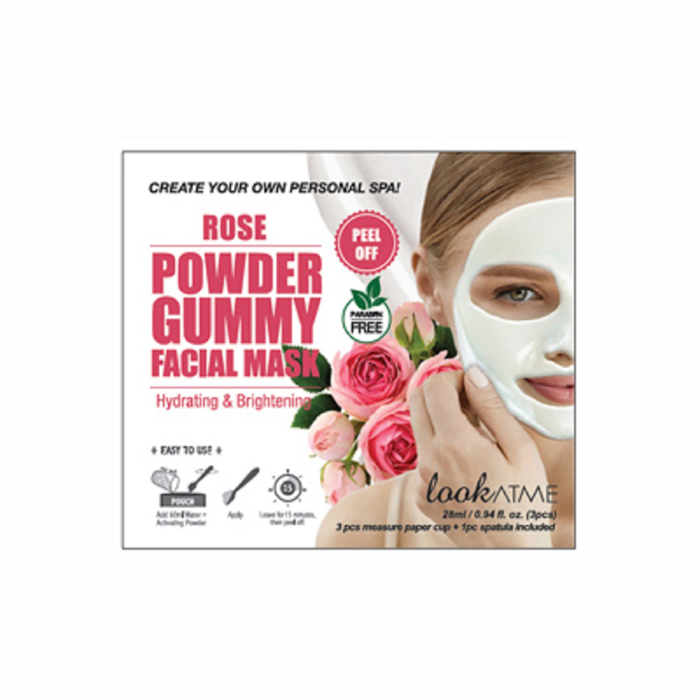 LOOK AT ME POWDER GUMMY FACIAL MASK ROSE 3 STK