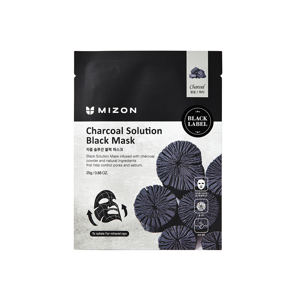 MIZON BLACK MASK CHARCOAL SOLUTION