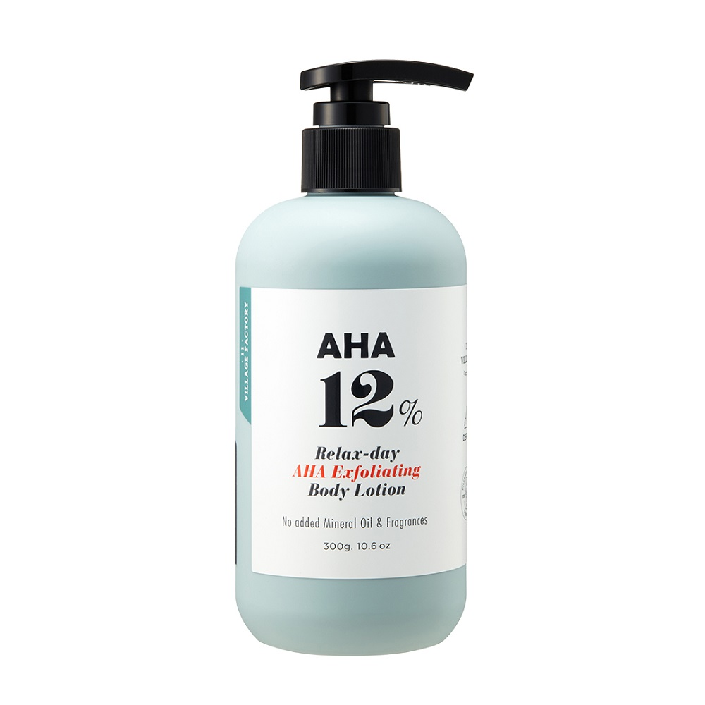 VILLAGE 11 FACTORY AHA 12% EXFOLIATING BODY LOTION 300 ML