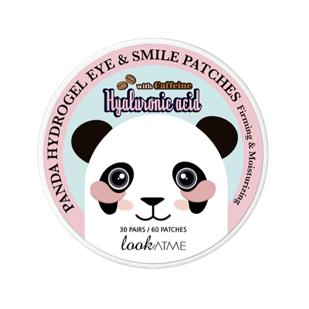 LOOK AT ME PANDA HYDROGEL EYE & SMILE PATCHES HYALURONIC ACID WITH CAFFEINE