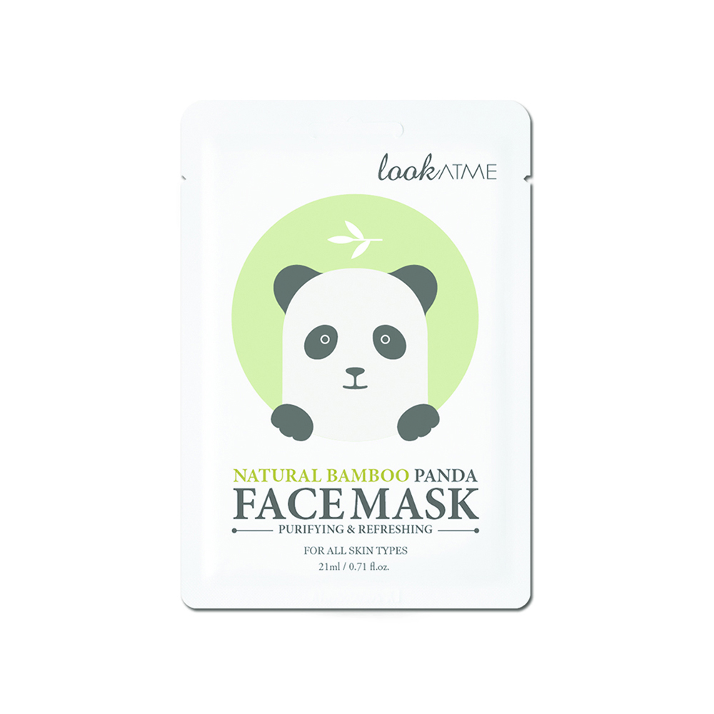 LOOK AT ME FACE MASK NATURAL BAMBOO PANDA