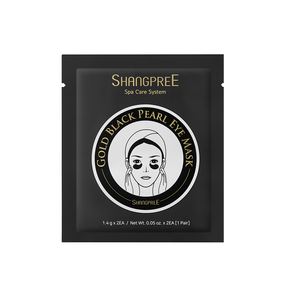 SHANGPREE HYDROGEL EYE MASK GOLD BLACK PEARL 1 SÆT