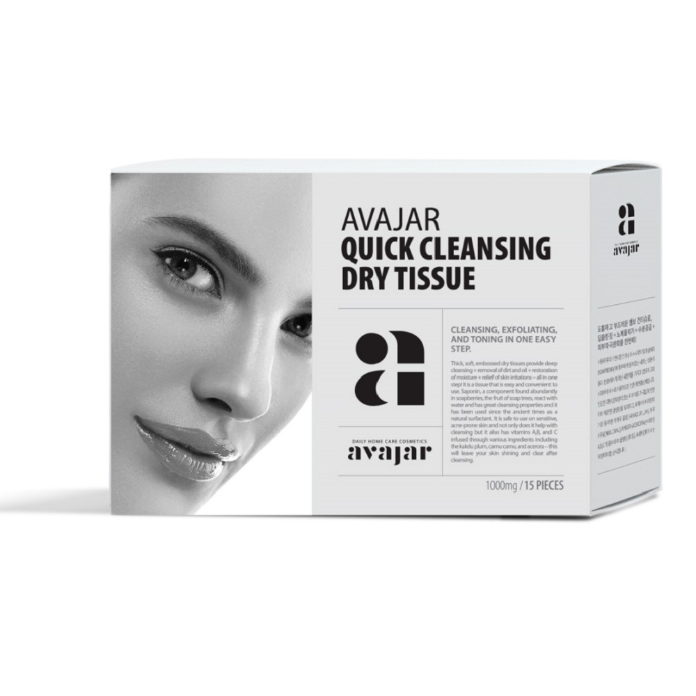 AVAJAR QUICK DRY CLEANSING TISSUE 15 STK