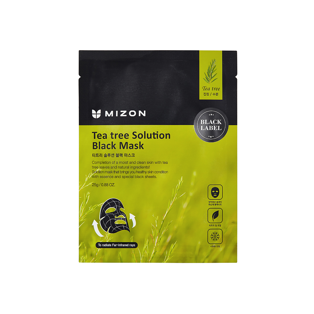 MIZON BLACK MASK TEA TREE SOLUTION