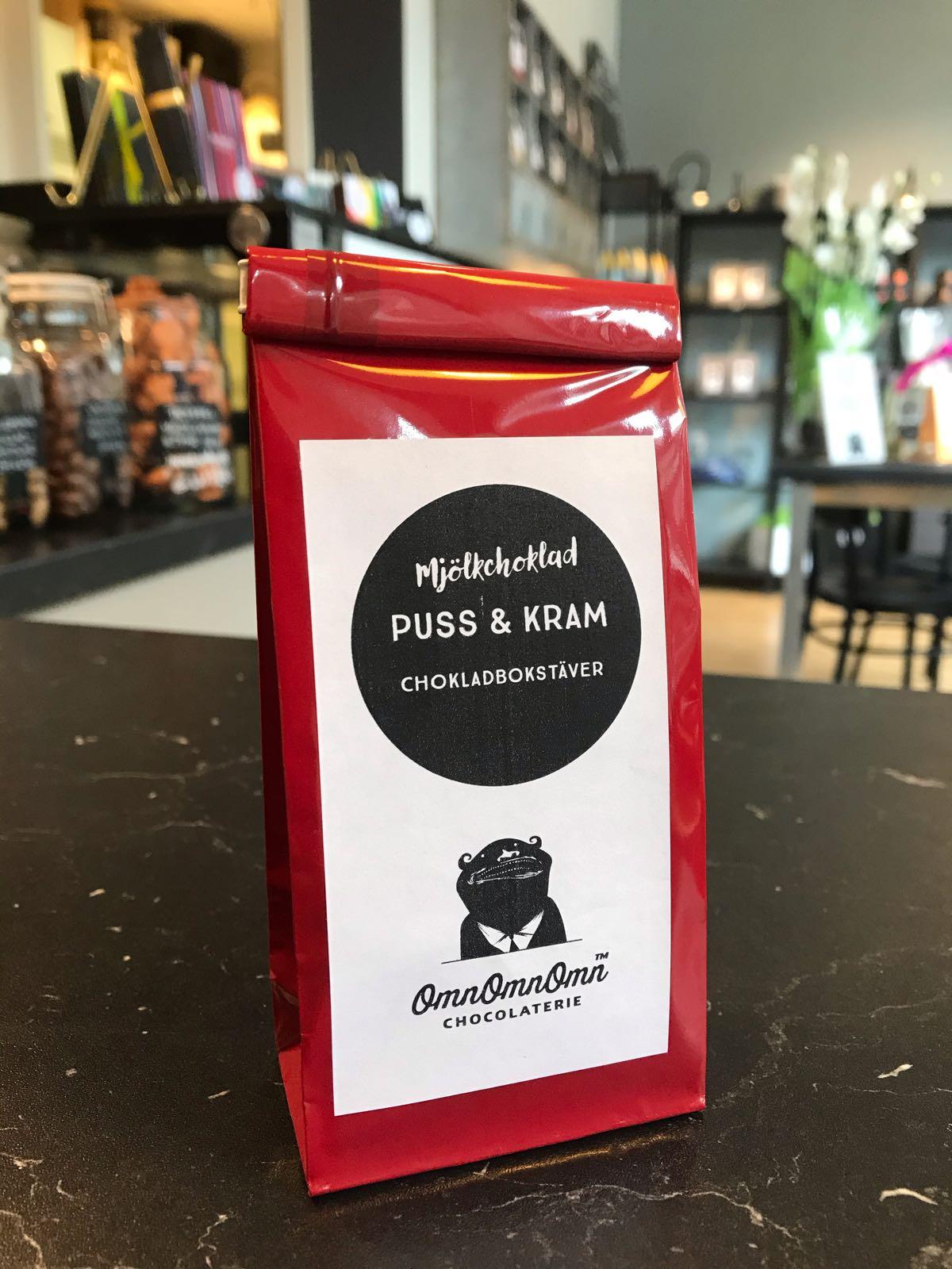 Puss & Kram – bokstäver i choklad