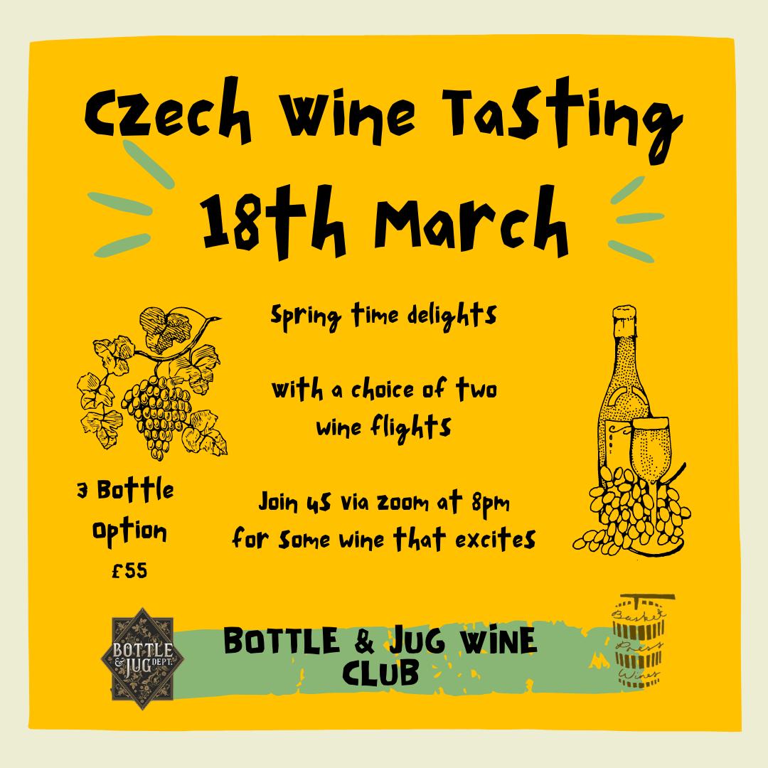 3 Bottle Option - Bottle & Jug Wine Club - Czech Tasting 18th March '21