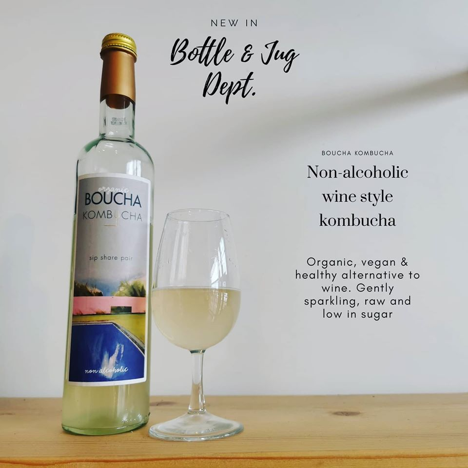 Boucha Kombucha, non-alcoholic wine