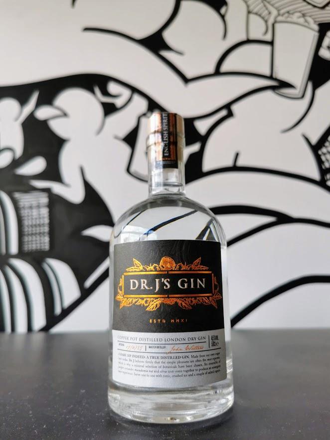 Dr J's Gin, English Spirit Distillery