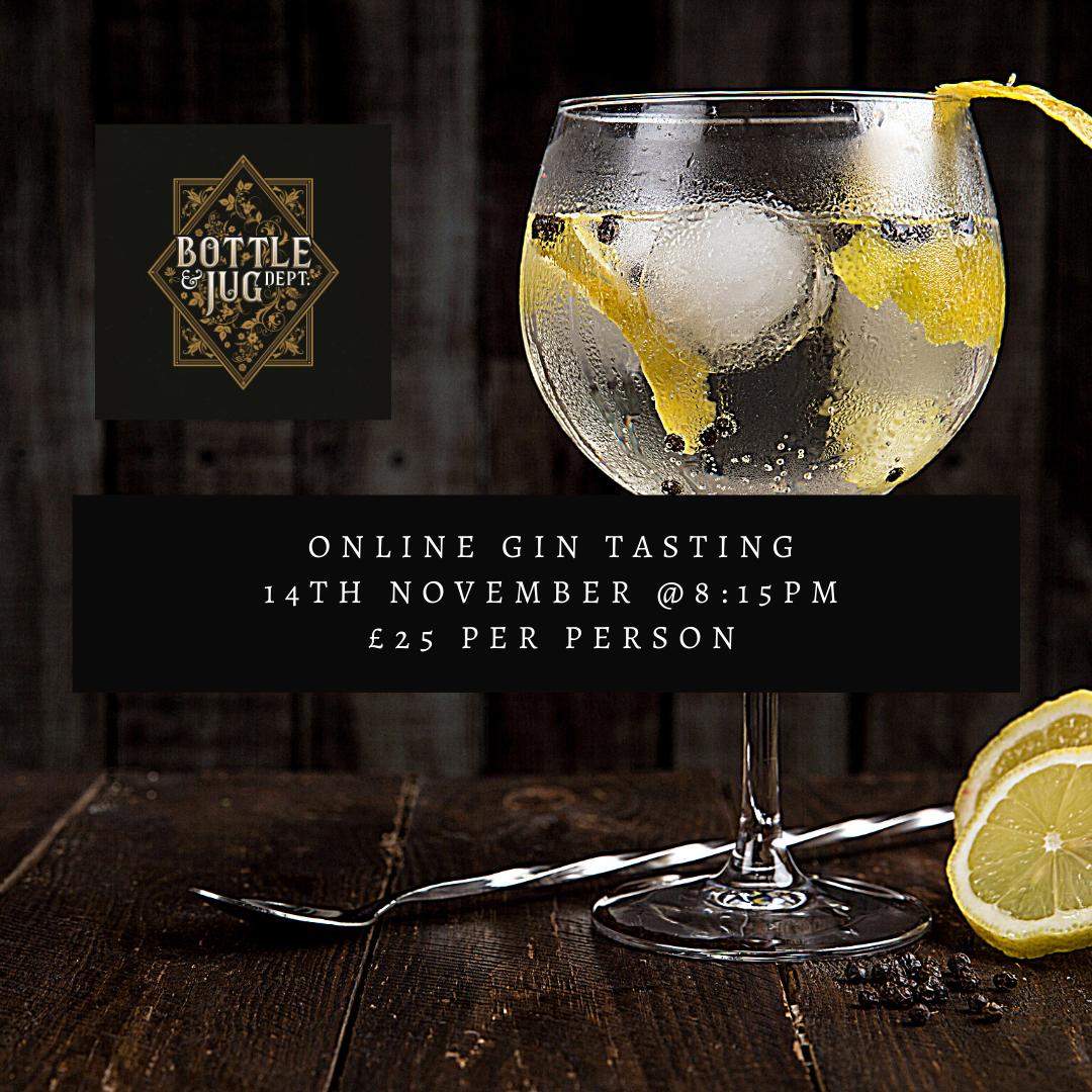 Online Gin Tasting Saturday 14th November