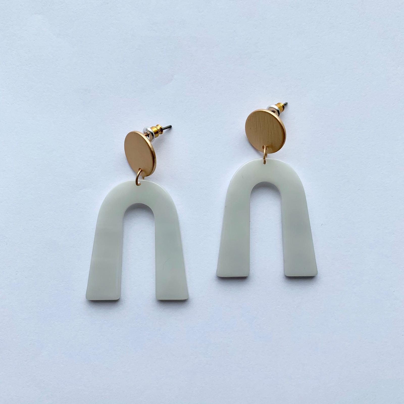 Octavia Stone Effect Resin Earrings