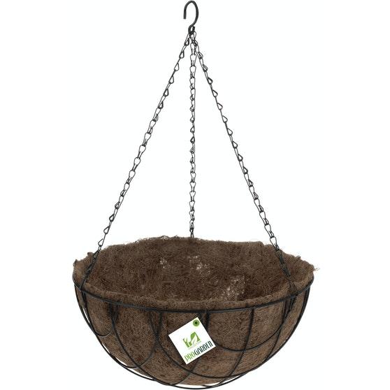 Kookos/metalliamppeli, 30cm