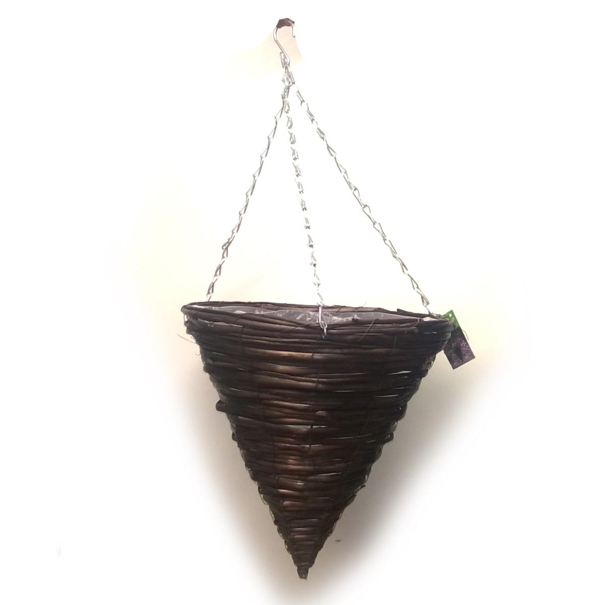 Amppelikartio 35cm, ruskea