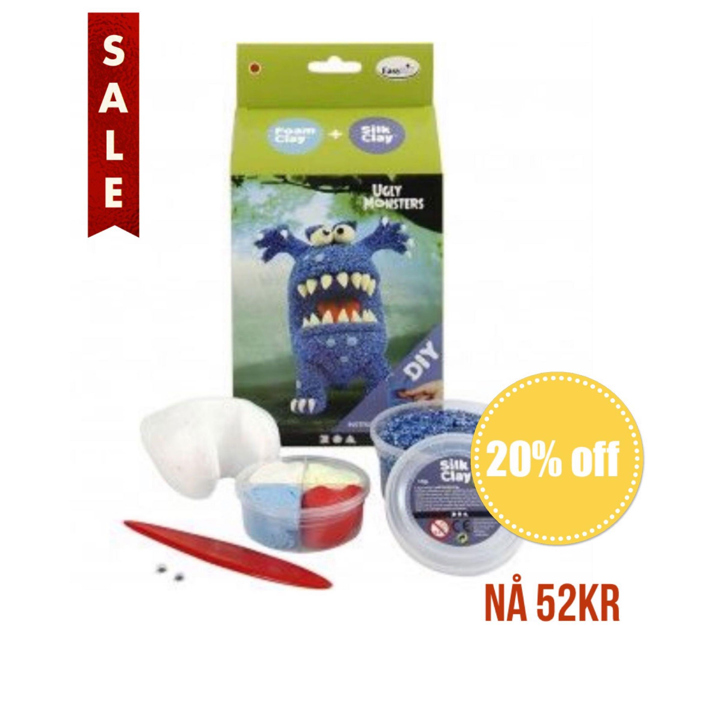 Foam Clay Ugly Monsters Blue DIY Kit