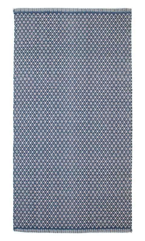 "Teppich/Läufer ""Aspegren"" - rhombe blue"