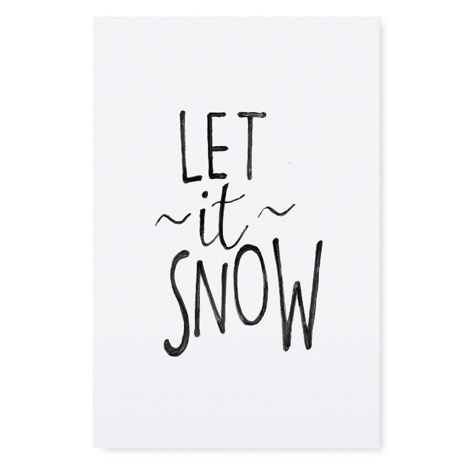 "Poster A 4 ""let it snow"""