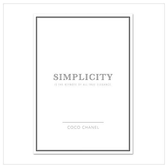 "Kunstdruck A 4 ""simplicity"""