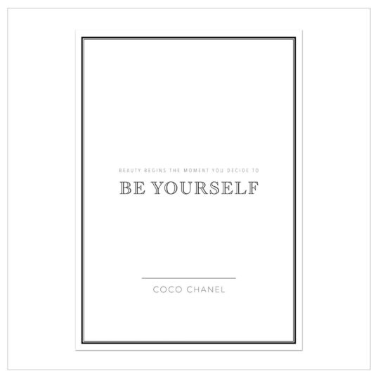 "Kunstdruck A4 ""be yourself"""