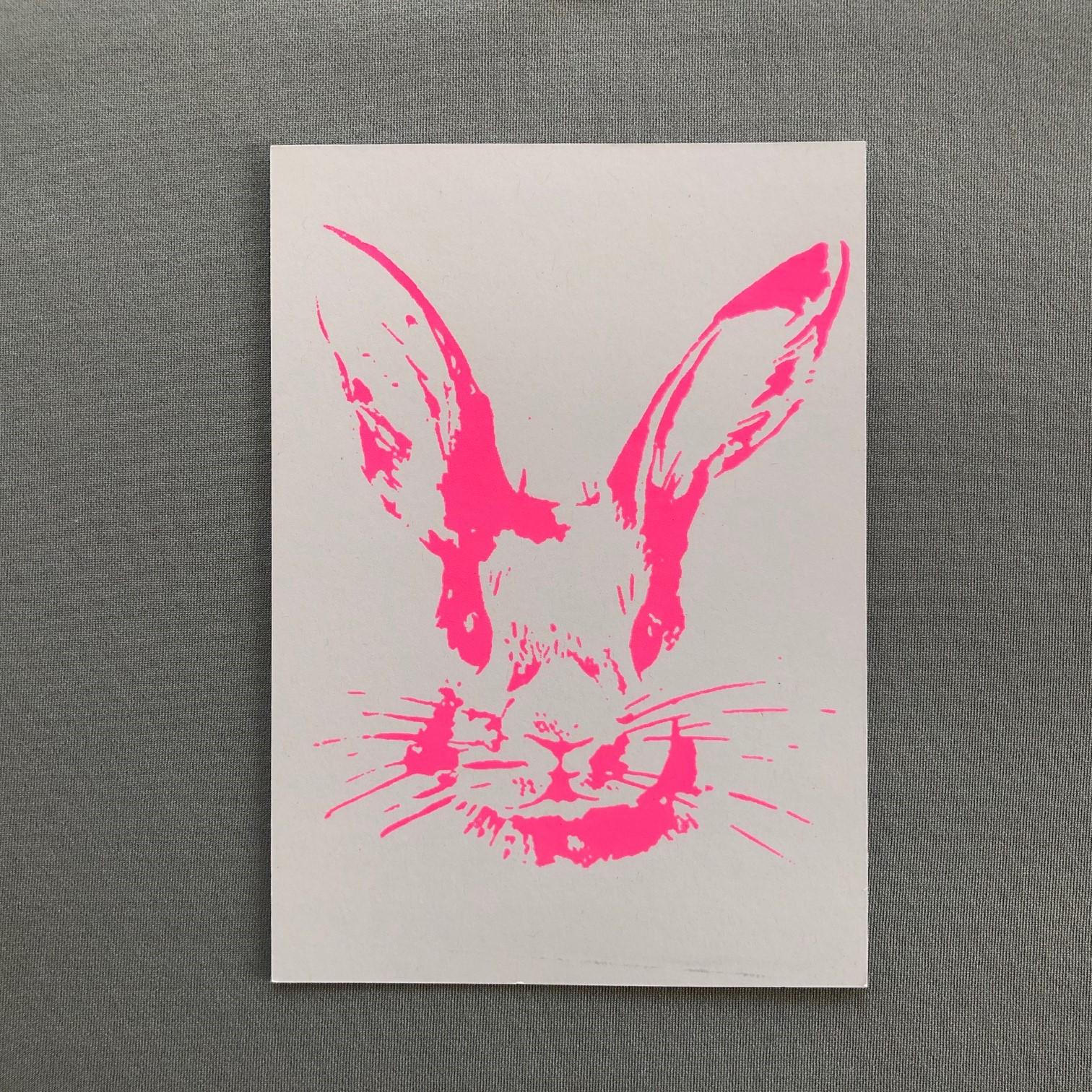 Postkarte Hase (verschiedene Farben)