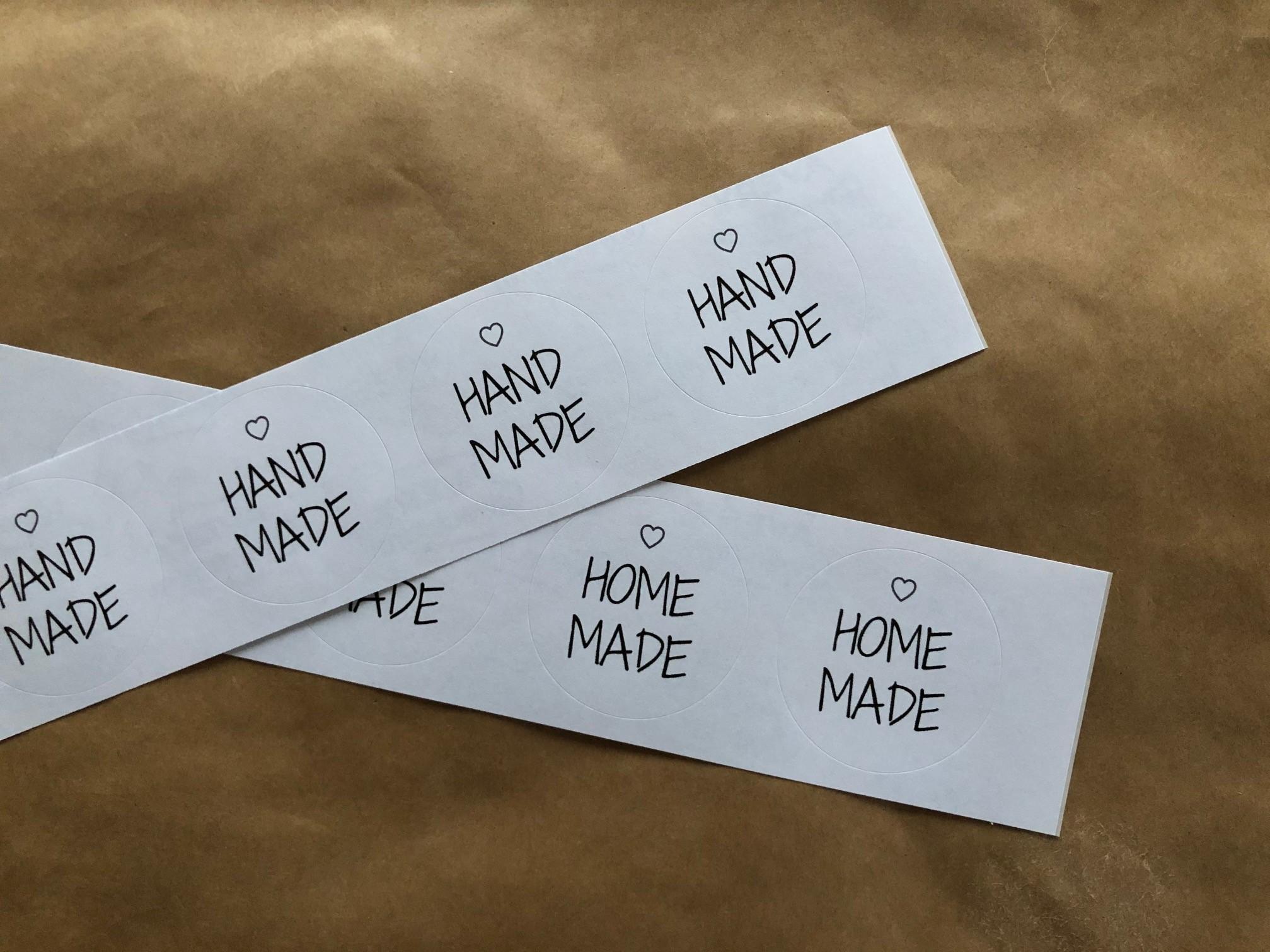 """Sticker / Aufkleber """"Homemade"""" / """"Handmade"""" (4 Stück im  Set)"""