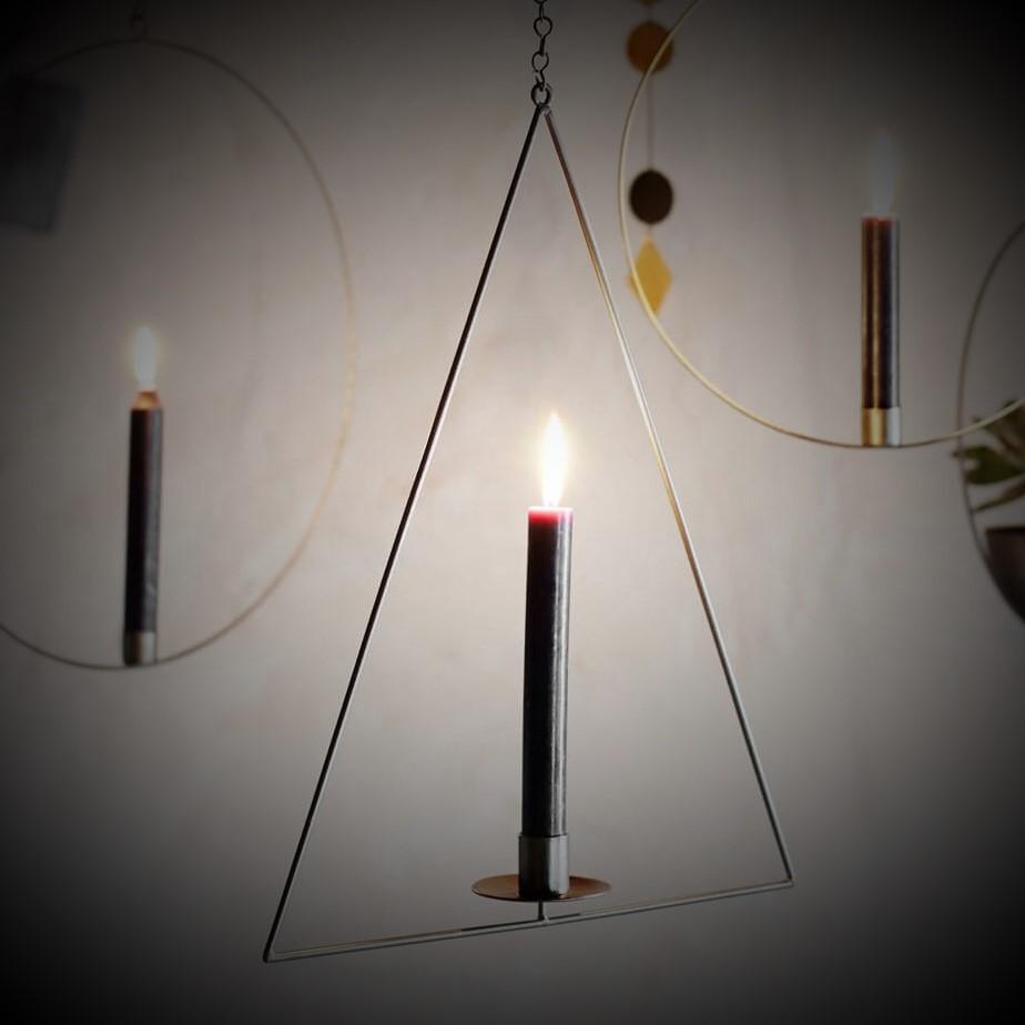 Messing Kerzenhalter Stern/Tannenbaum