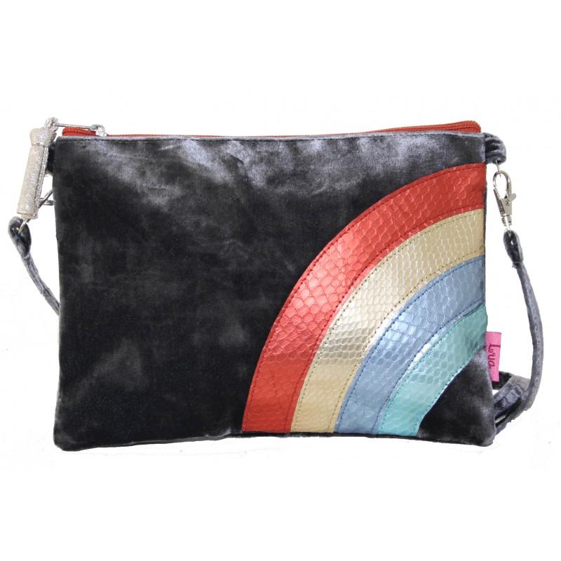Velvet Rainbow Cross Body Bag