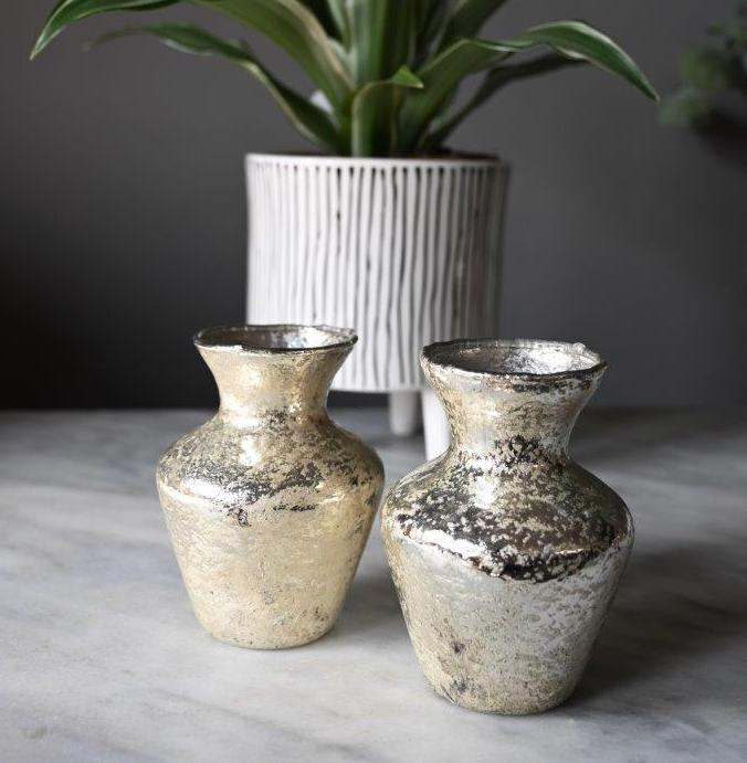 Antique Gold Mini Vase