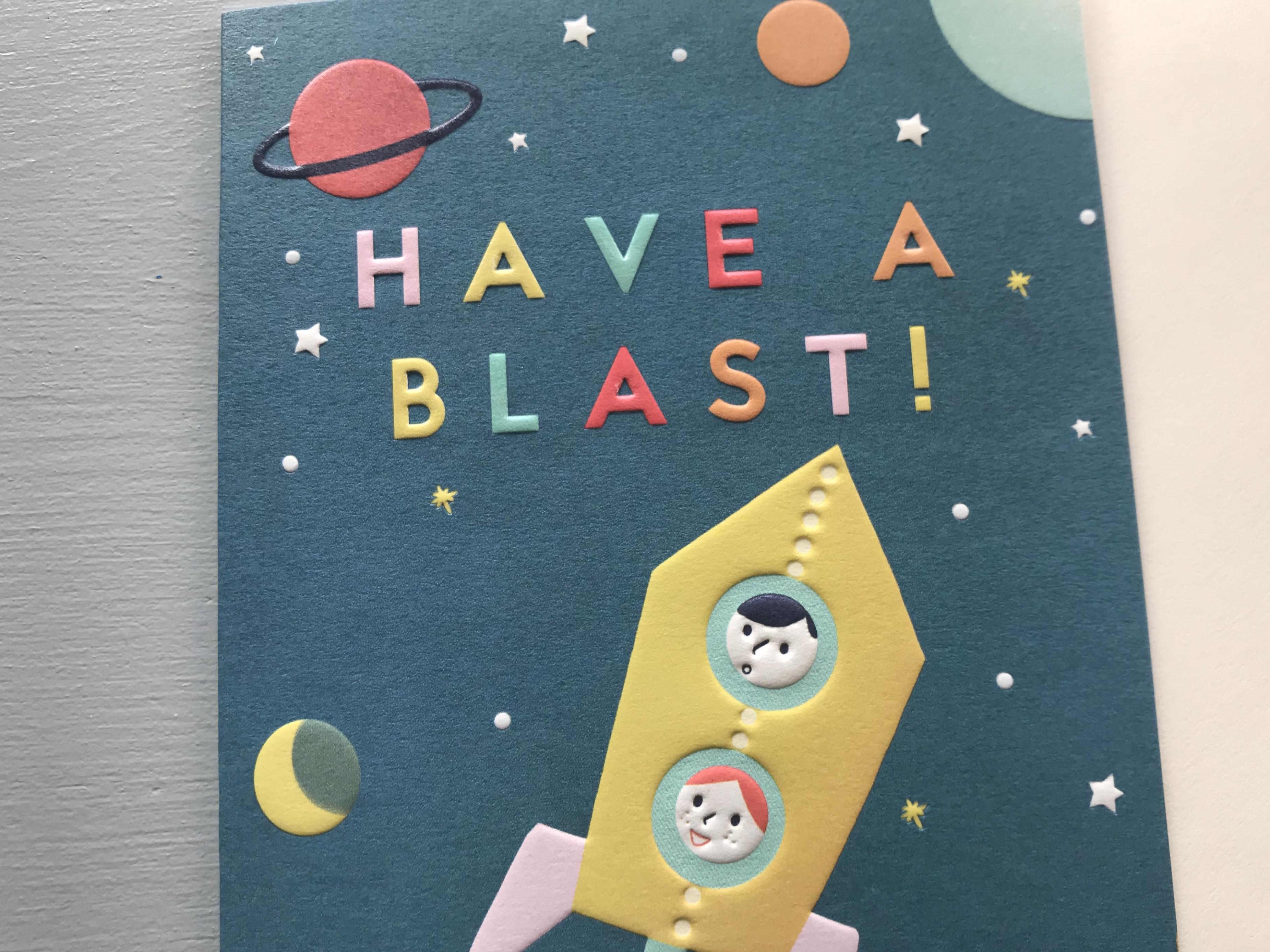 Blast Off Birthday Card