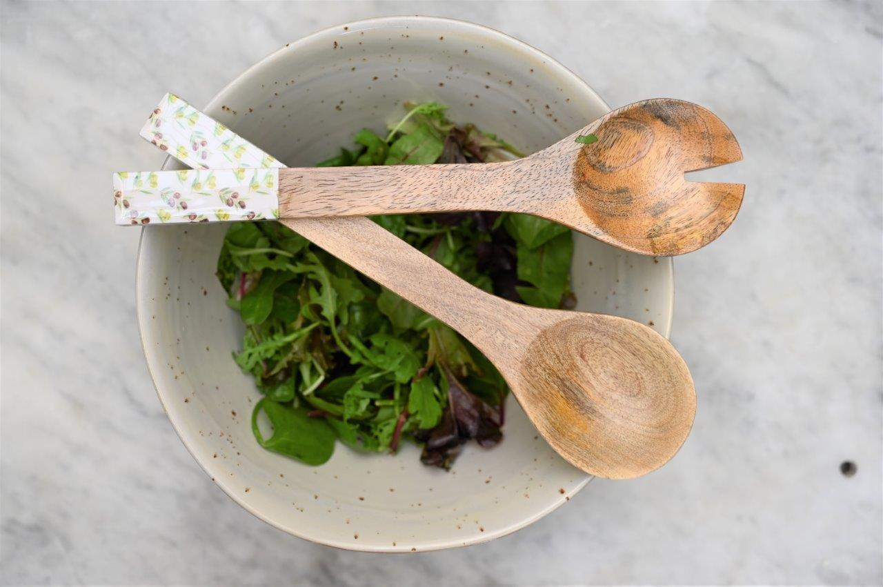 Olive salad servers