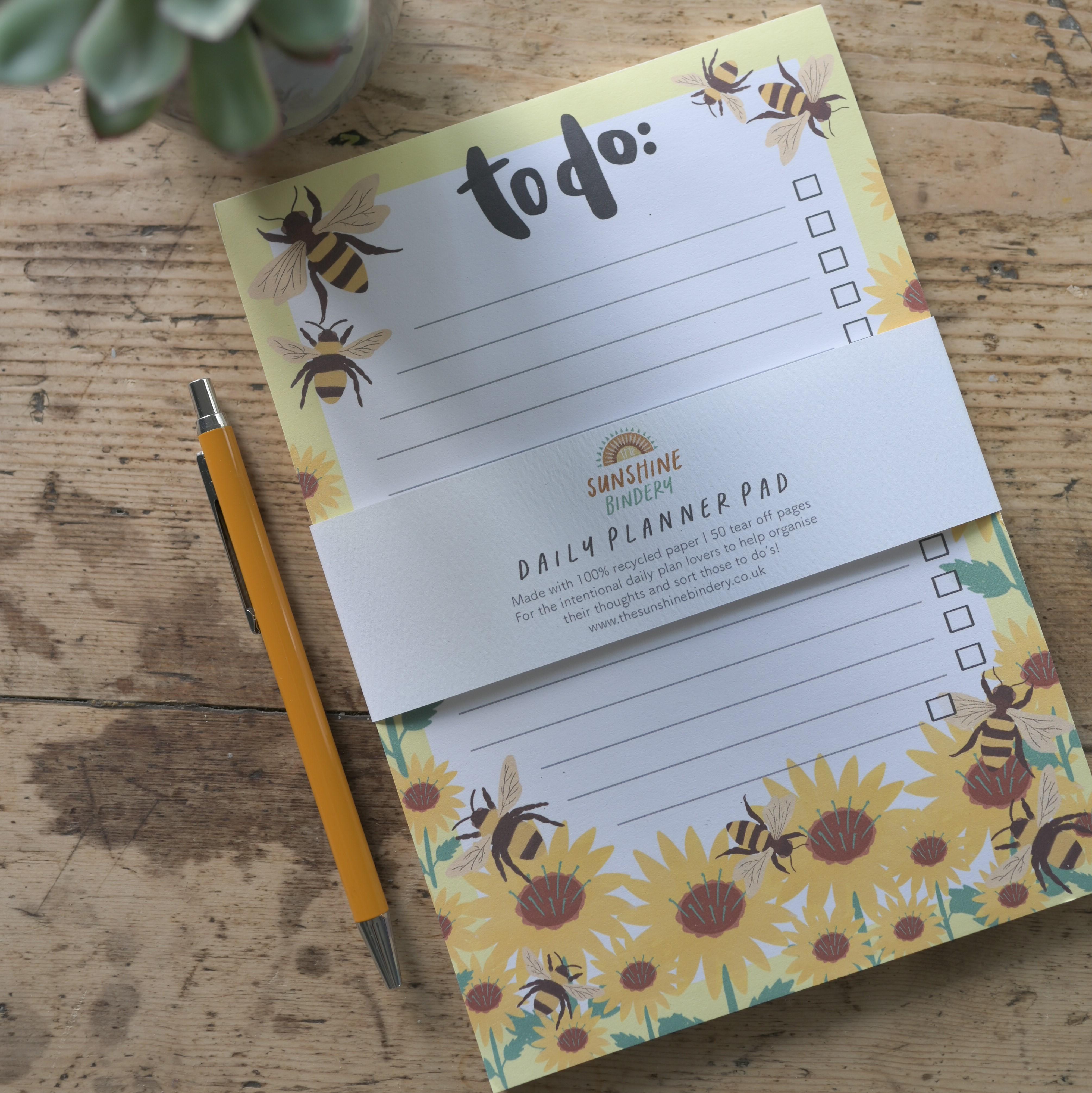 Bee To-Do List, Sunshine Bindery