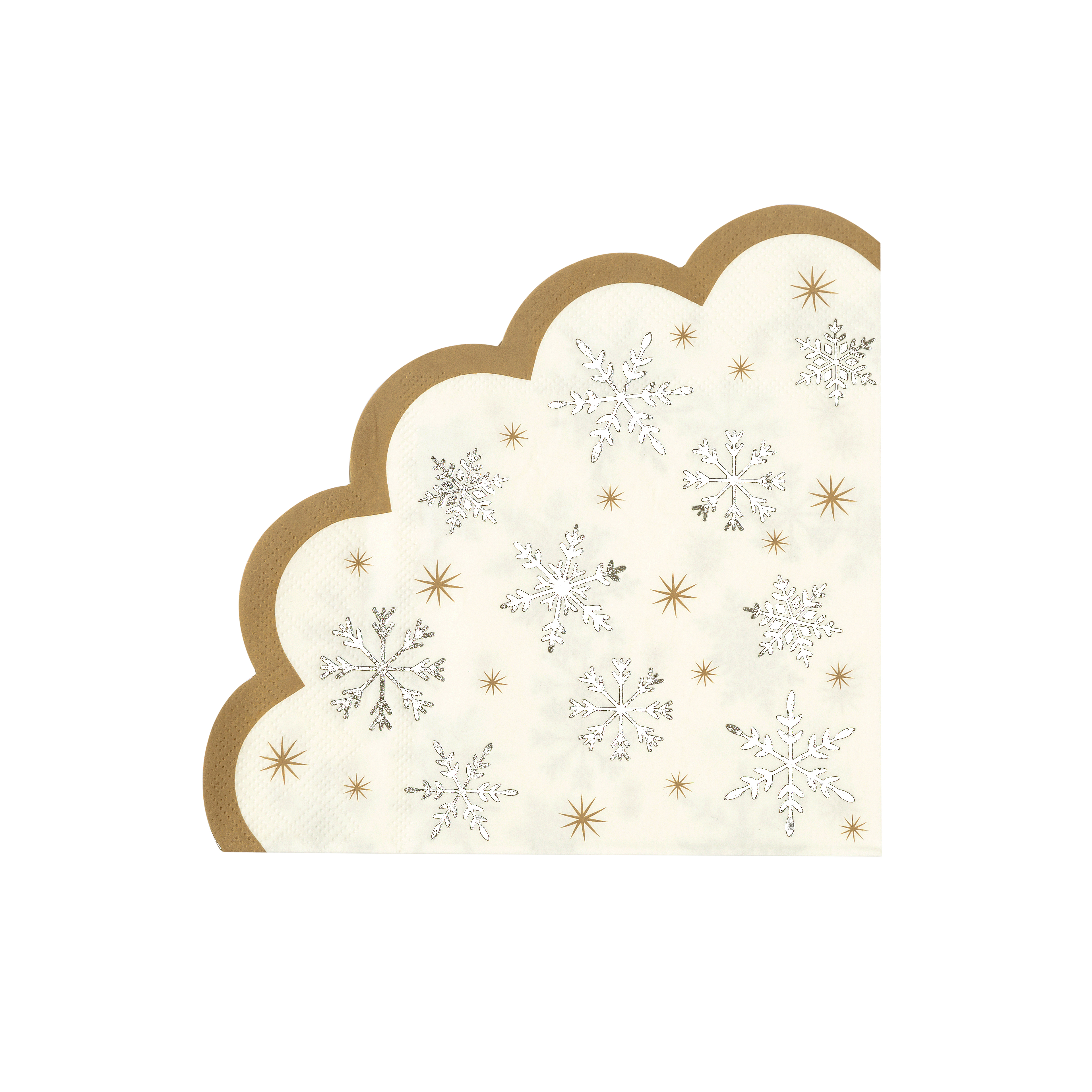 Scalloped Snowflake Napkins - was £3.75