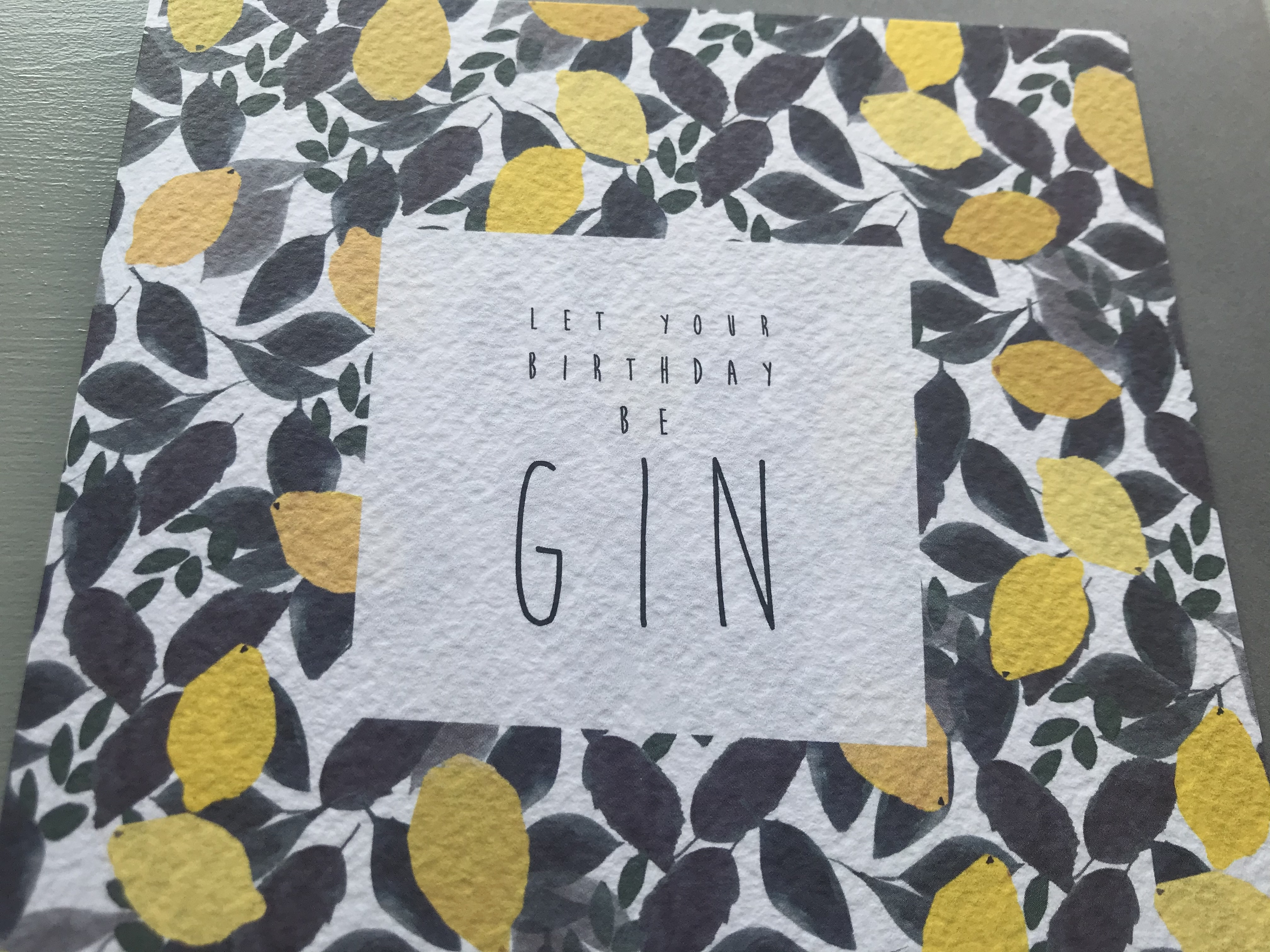 'Gin' Birthday Card