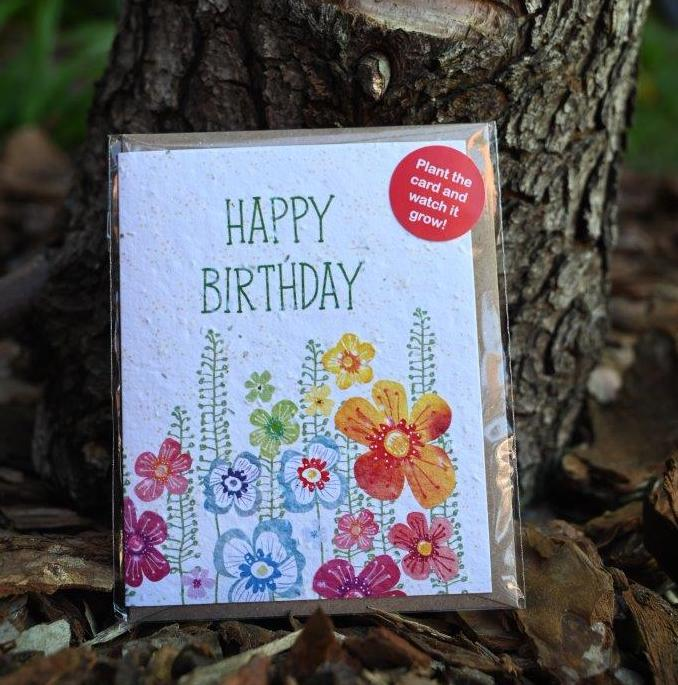 Happy Birthday, Seed Card