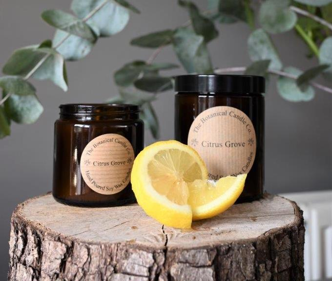Citrus Grove Candle by Botanical Candle Co.