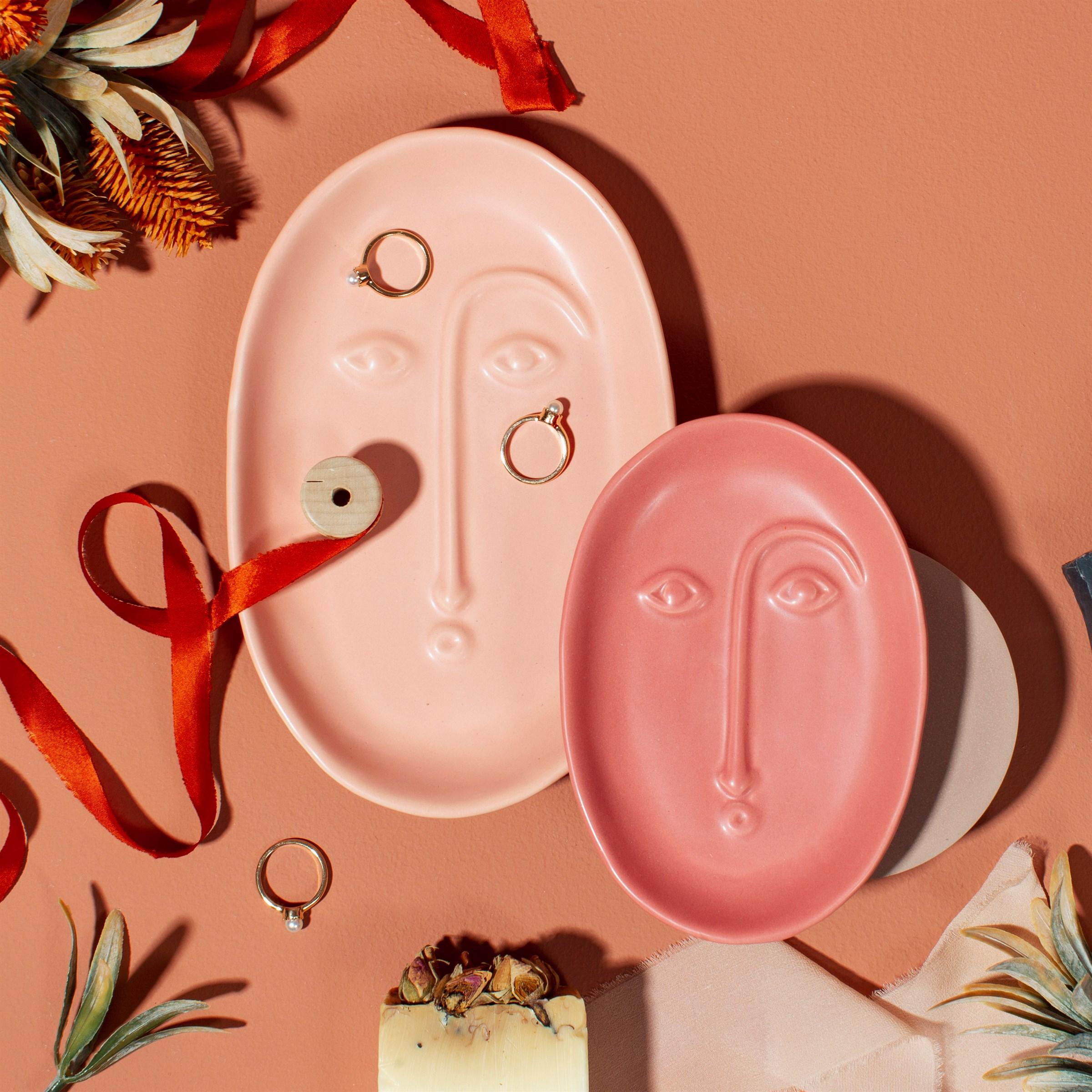 Small Abstract Face Dish