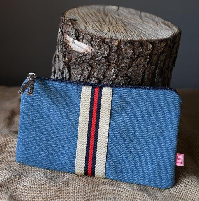 Blue and Red Stripe Purse