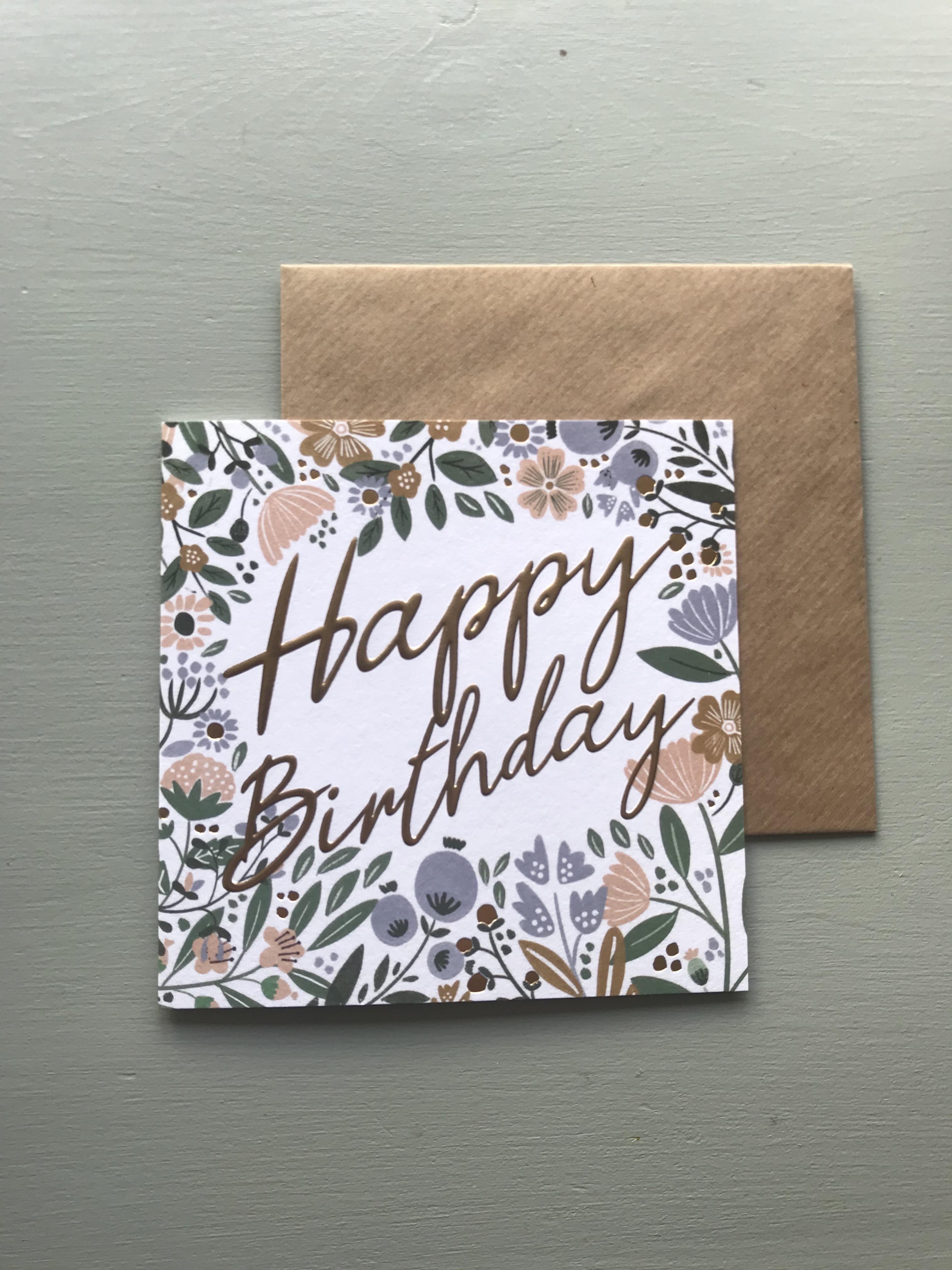 Secret Garden Birthday Card