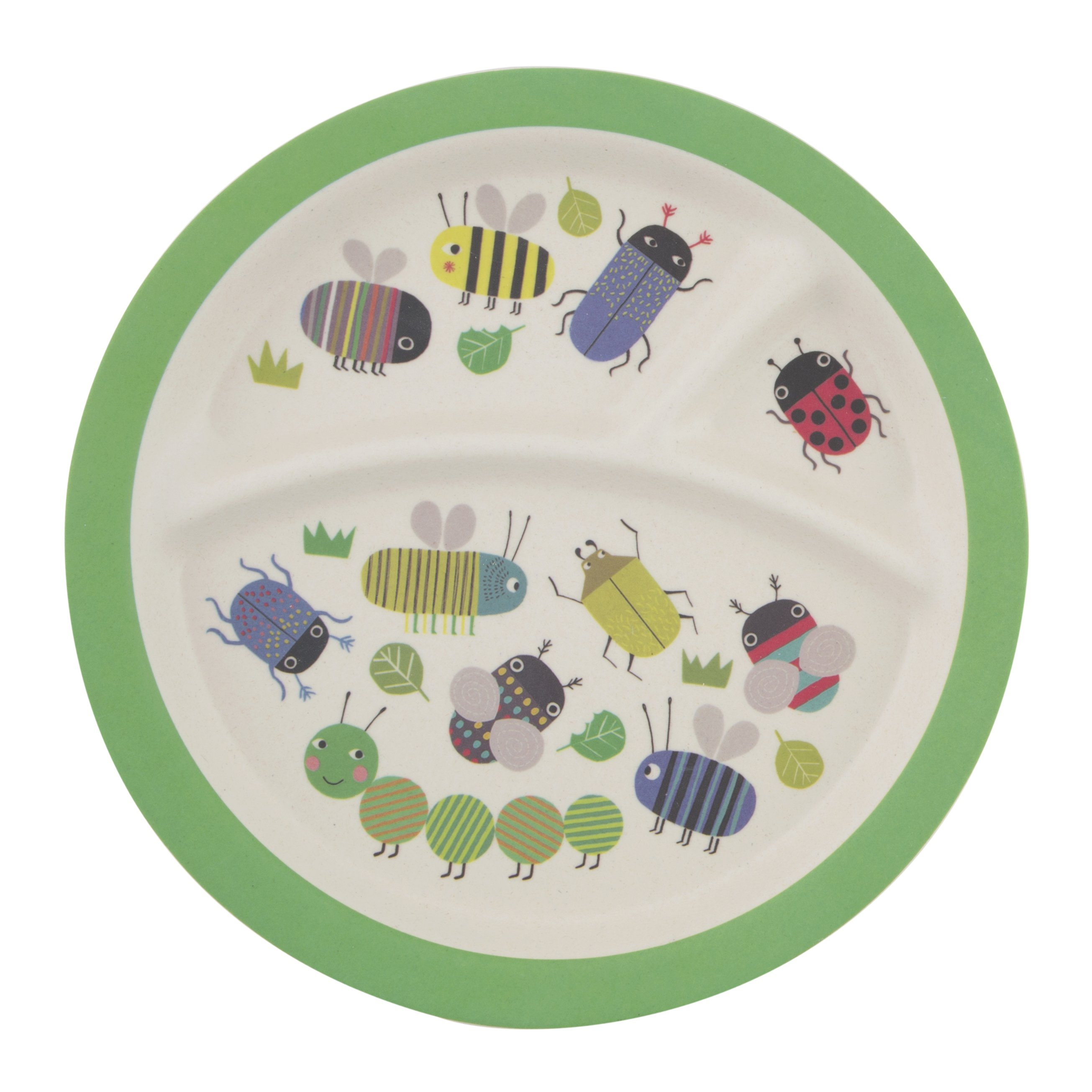 Busy Bugs Bamboo Children's Plate