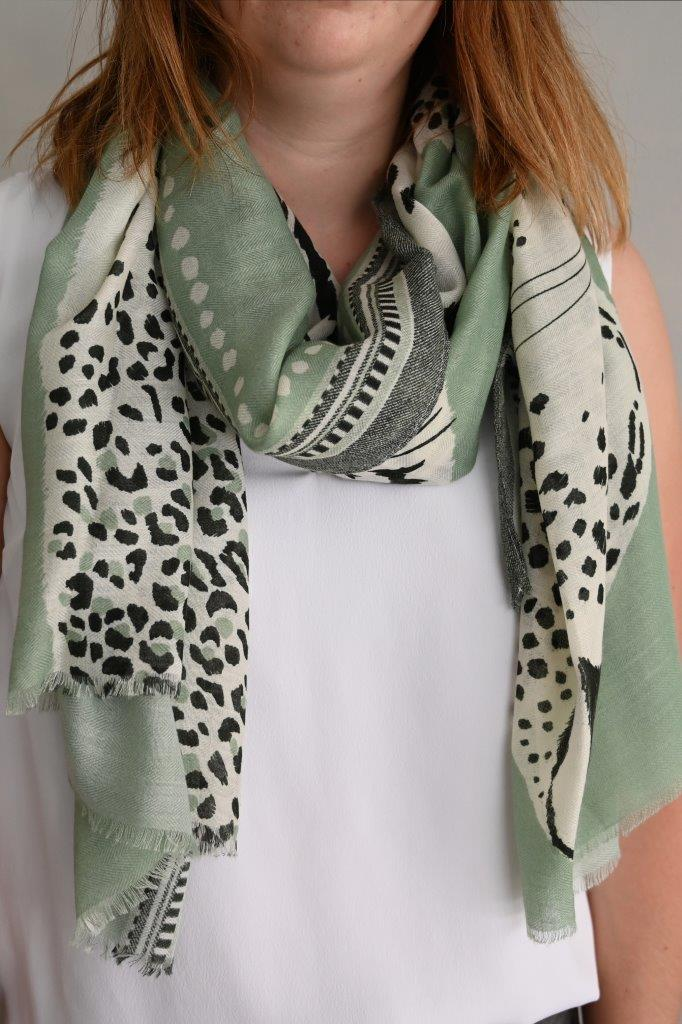 Leopard and Tiger Scarf