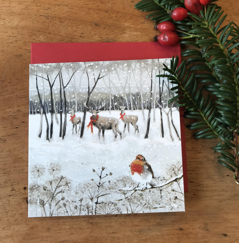 'Reindeer Crossing' Charity Christmas Card Pack - was £4.50