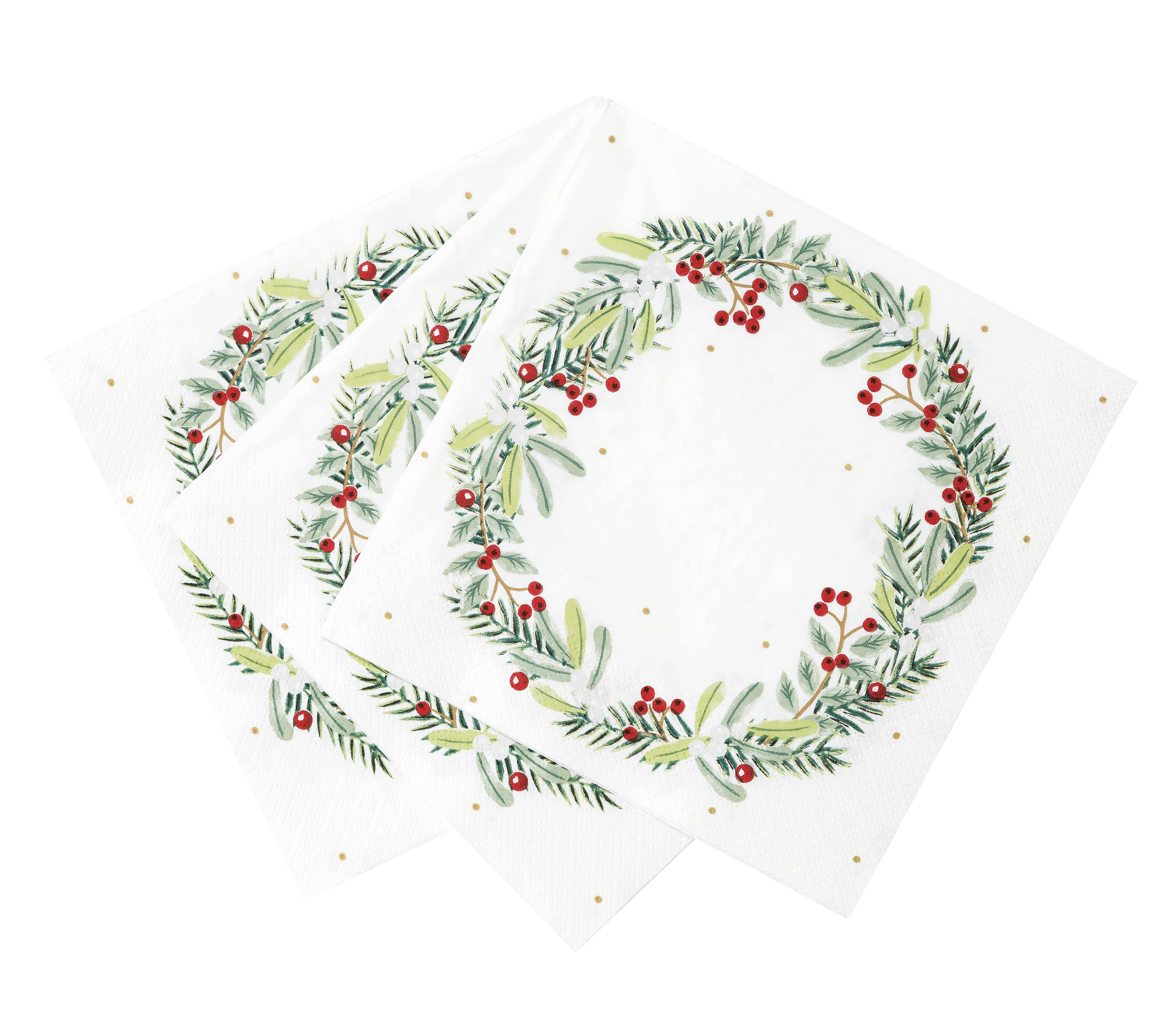 Botanical Wreath Napkins - was £3.75