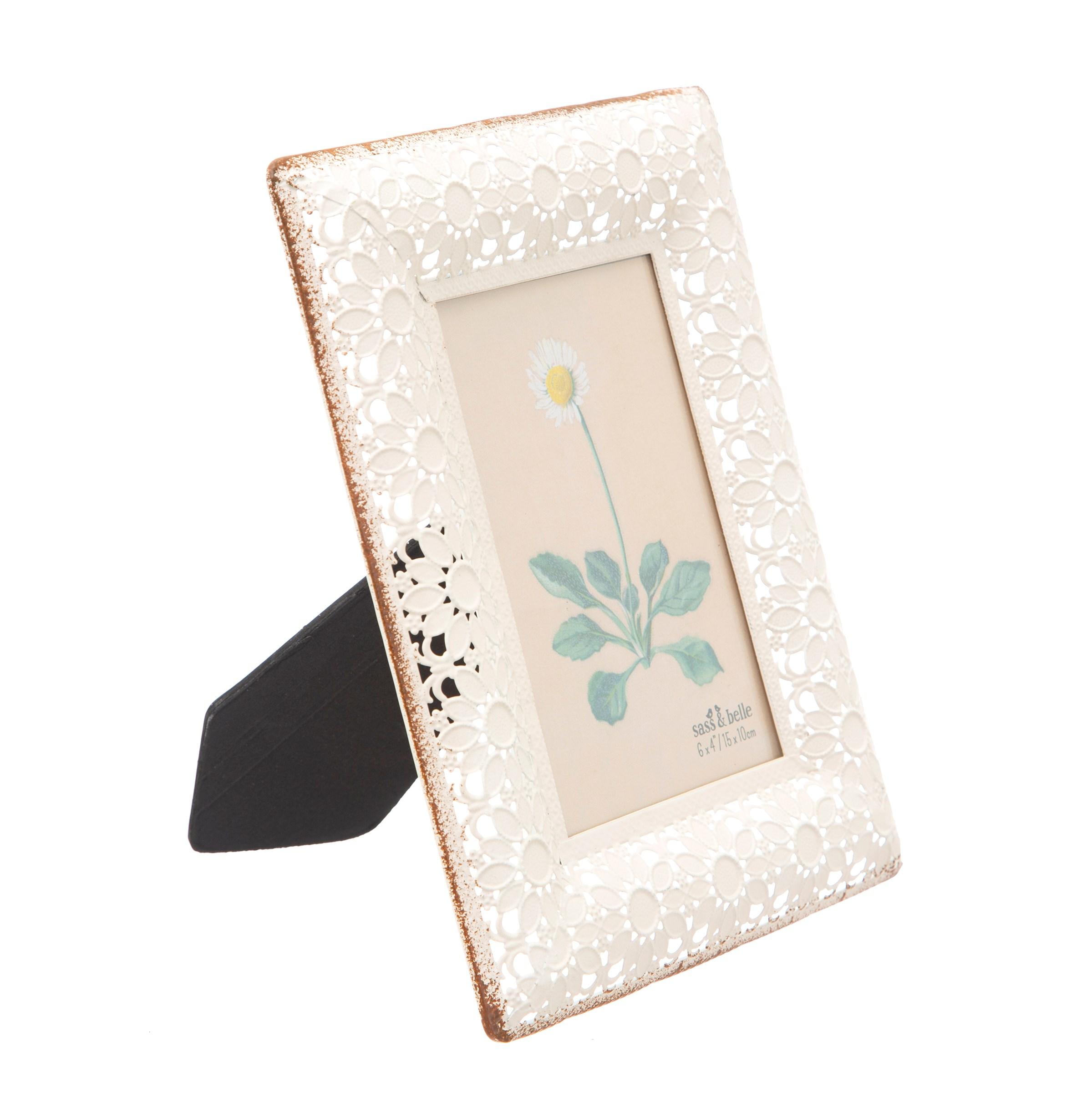 White Floral Frame