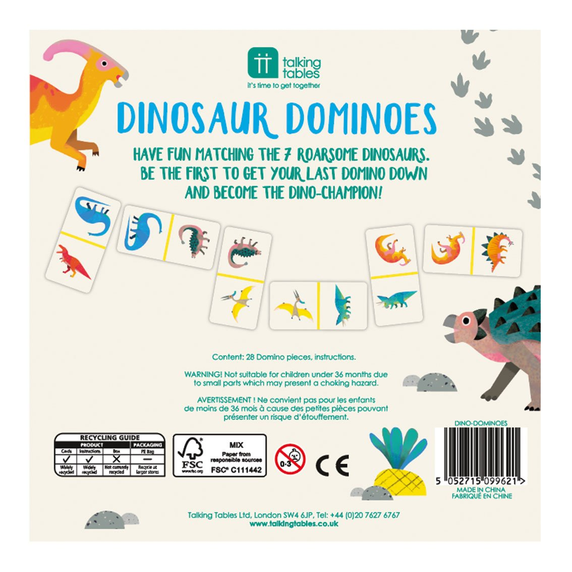 Children's Dinosaur Dominoes
