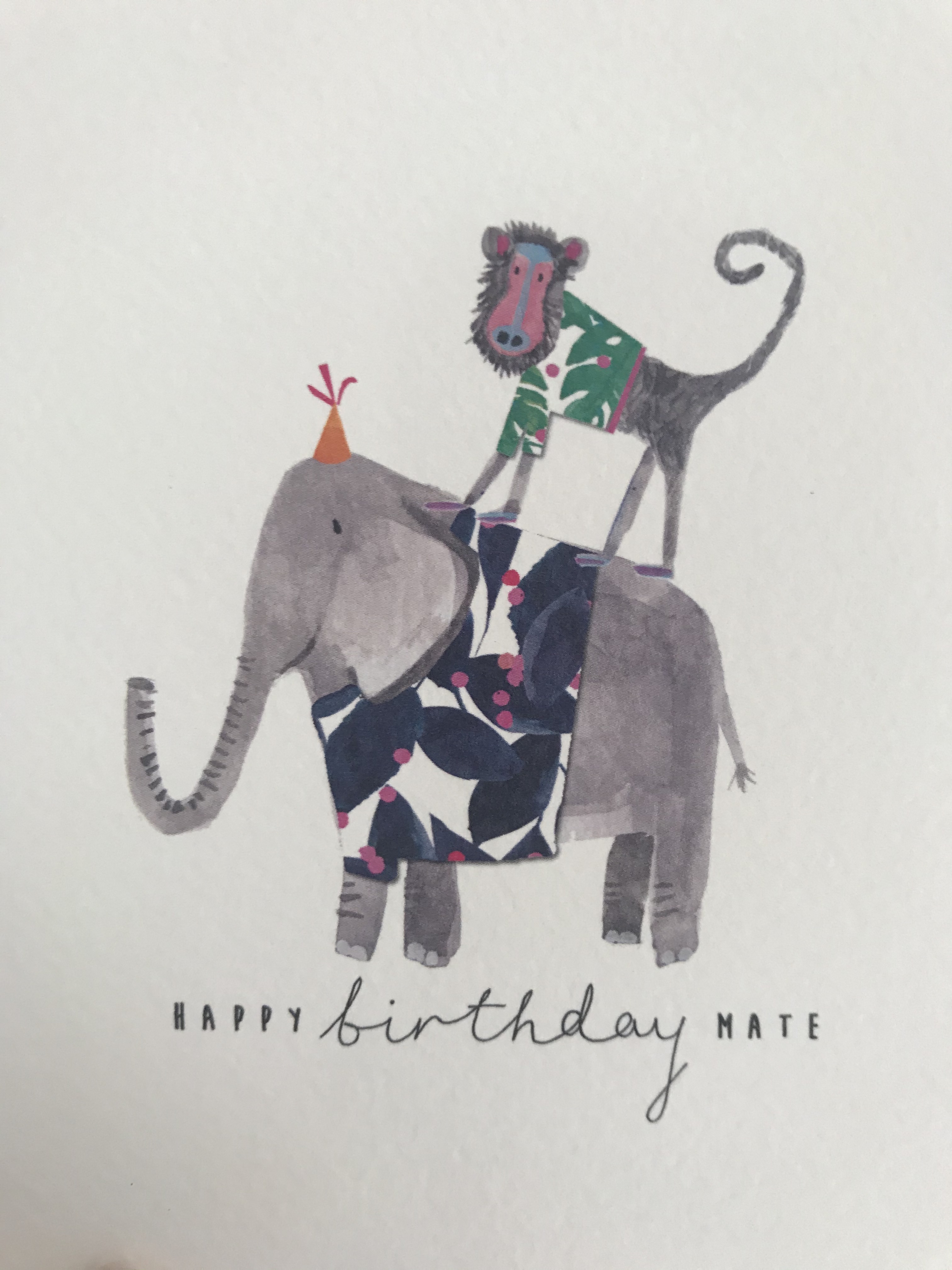 'Happy Birthday Mate' Card