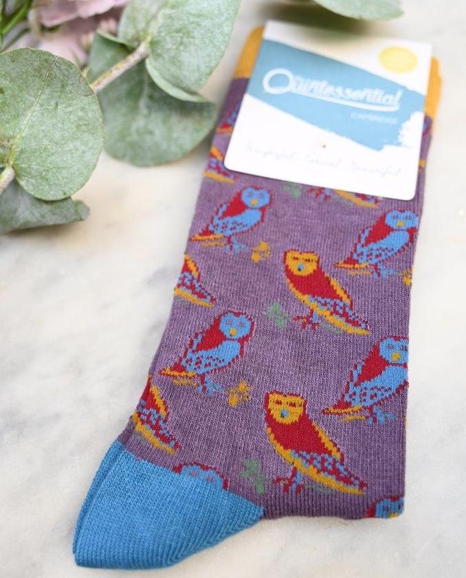 Women's Owl Bamboo Socks